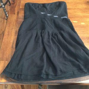 NWT American Eagle black wool strapless dress